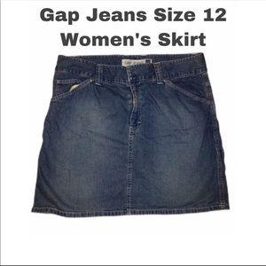 Gap Denim Jean Mini Skirt | Size 12 | Women's